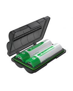 Batterybox7 -akkurasia + 2 kpl 18650 Li-ion akkuja