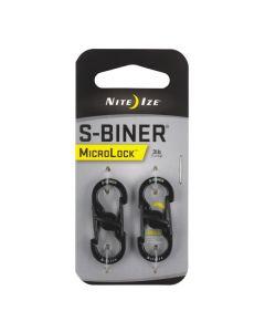 S-Biner MicroLock 2-pk, musta
