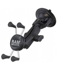 RAM Twist Lock imukuppikiinnike + Universal X-Grip
